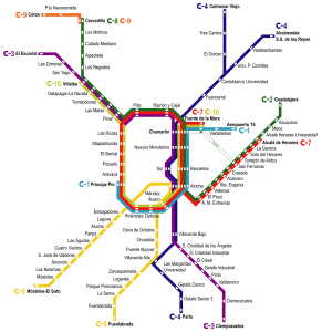 cercanias map madrid for TEFL Students