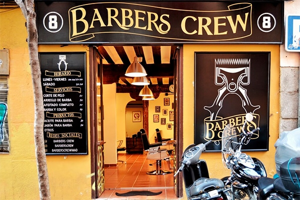 Best barber shops in Madrid: Barbers Crew