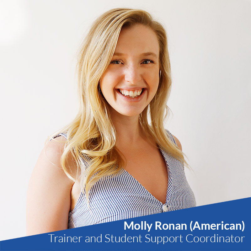 Molly Ronan (American) - TtMadrid TEFL Trainer and Student Support Coordinator